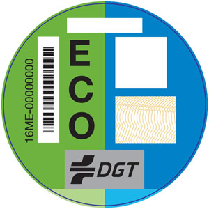 Distintivos ambientales de la DGT